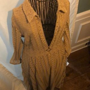 Vintage couture long sleeve dress